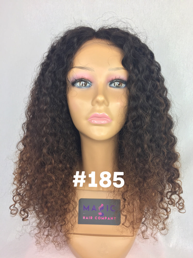 "18"", Front Lace, Curly, Ombre"
