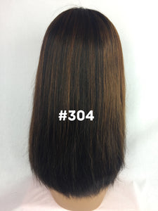 "14"", Silky Straight, Front Lace, Custom Colored"