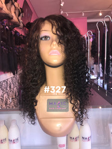 "16"", Curly, Highlights, full lace"