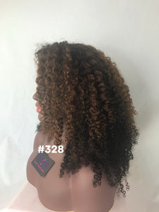 "16"", Kinky Curly, Highlights, Front Lace"