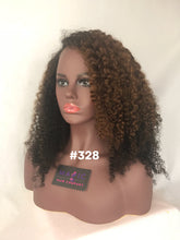 "Load image into Gallery viewer, 16"", Kinky Curly, Highlights, Front Lace"
