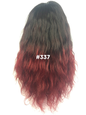 "16"", Body Wave, Red Ombre, Full Lace"