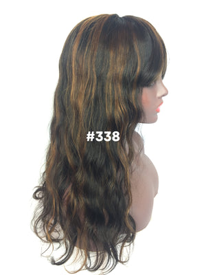 "16"", Body Wave, Bangs, Full Lace"