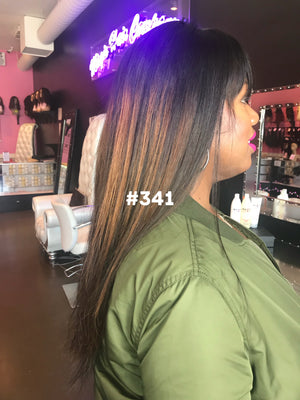 "18"", Silky Straight, Highlights, Bangs, Front Lace"