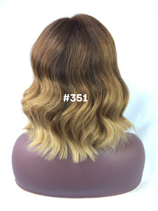 "10"", Silky Straight, Ash Brown, ombre, front lace"