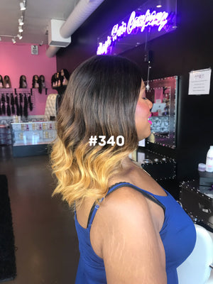 "Load image into Gallery viewer, 14"", Silky Straight, Ombre, Front Lace"