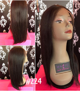 "14"", silky straight, full lace"