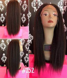 "18"" Kinky Straight, full lace"