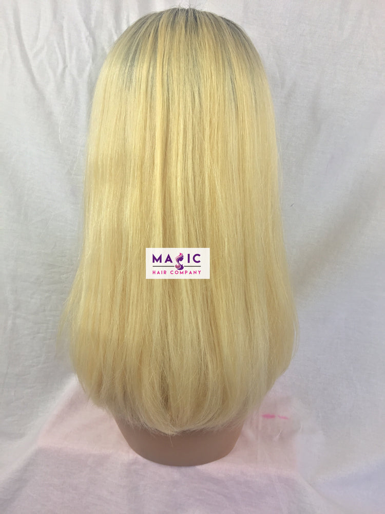 "Load image into Gallery viewer, 14"", Silky Straight, #613/blonde, Front Lace"