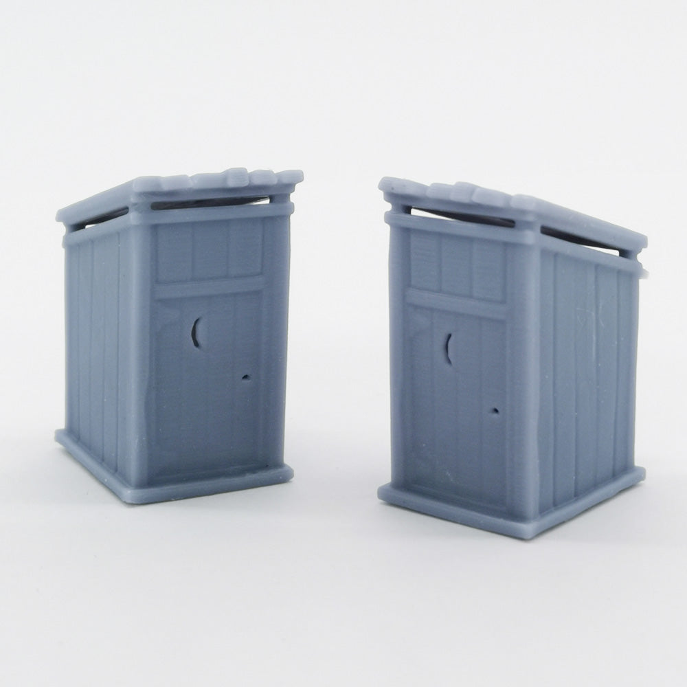 Western Country Accessory Outhouse 2 pcs 1:87 HO Scale Outland Models Railway Scenery