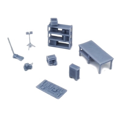 Garage Accessories Set 1:87 HO Scale