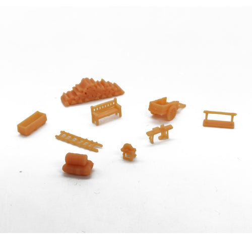 Country Farm Tool Accessory Set N Scale 1:160