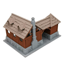 Load image into Gallery viewer, War of Tyrant Series Medieval Blacksmith Shop 28mm Scale