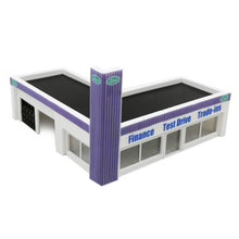 Load image into Gallery viewer, Car Dealership Building 1:87 HO Scale