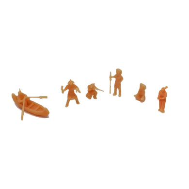 Native American Indian Tribe Figure Set Z Scale