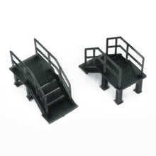 Load image into Gallery viewer, Industrial Stairs 2 pcs 1:87 HO Scale Outland Models Railroad Scenery