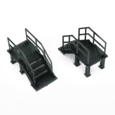 Industrial Stairs 2 pcs 1:87 HO Scale Outland Models Railroad Scenery