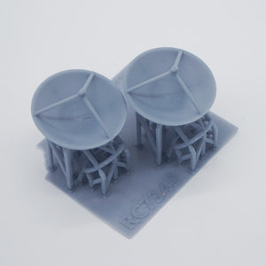 Outland Models Model Railroad Scenery Parabolic Antenna x2 Scale N 1:150