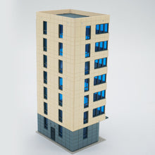 Load image into Gallery viewer, Colored Modern City Building Tall Apartment N Scale Outland Models Railway