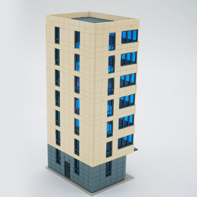 Colored Modern City Building Tall Apartment N Scale Outland Models Railway