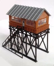 Load image into Gallery viewer, Overhead Signal Box / Tower N Scale Outland Models Train Railway Layout Station