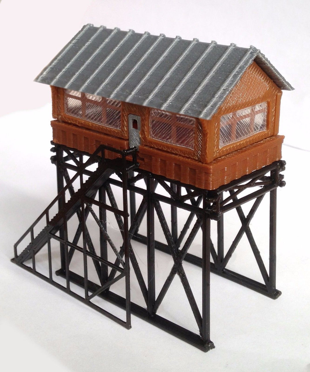 Overhead Signal Box / Tower N Scale Outland Models Train Railway Layout Station