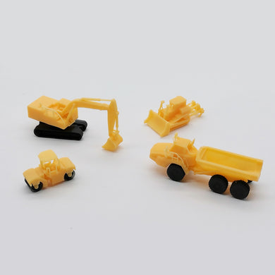 Heavy Construction Vehicle Set Z Scale 1:220 Outland Models Railway Miniature