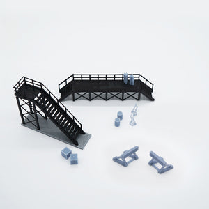 Train Locomotive Maintenance Platform & Accessories Outland Models
