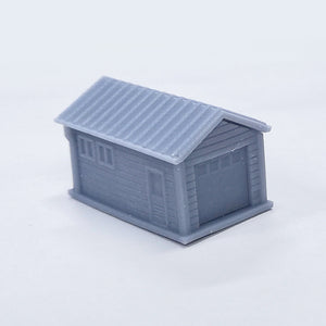 Outland Models Model Railroad Single Car Garage with Car 1:220 Scale Z