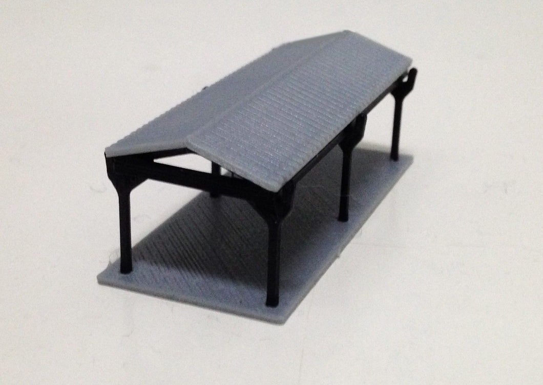 Small Shed for Autos / Goods Z Scale 1:220 Outland Models Railway