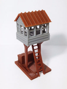 Trackside Watch / Signal Tower HO Scale 1:87 Outland Models Train Railway Layout
