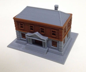 City Government Department Police Station Z Scale 1:220 Outland Models Railroad