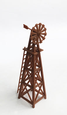 Country Farm Windmill (Brown) HO Scale 1:87 Outland Models Railway Layout