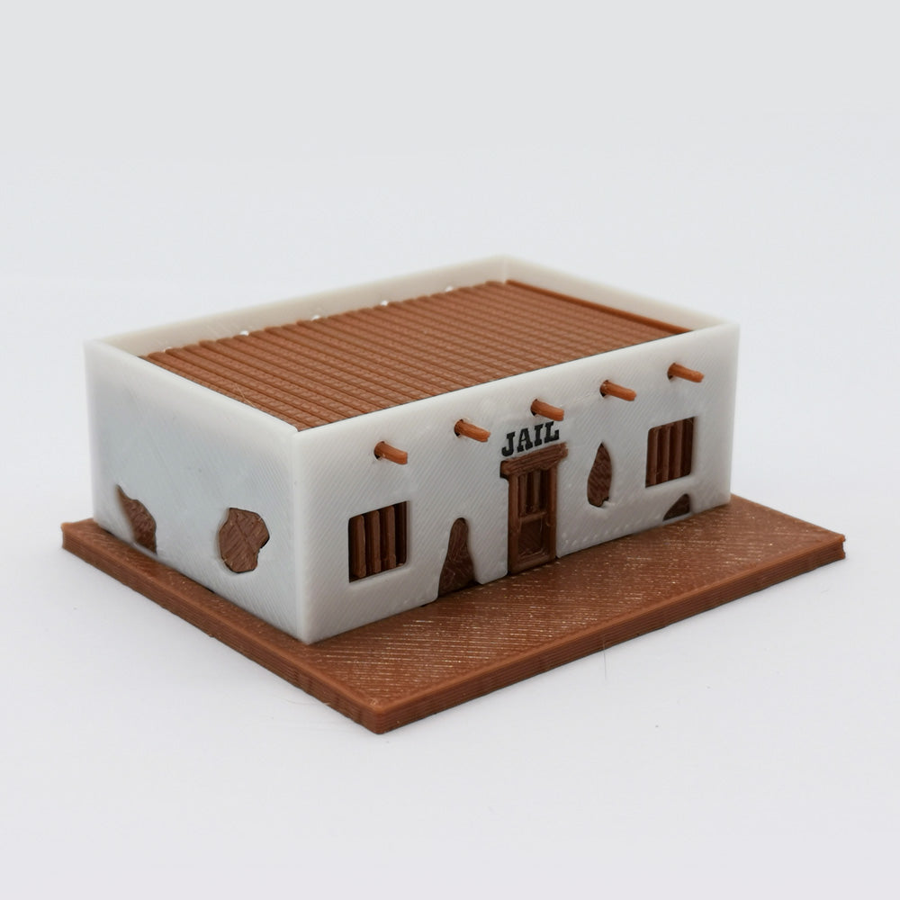 Old West Jail 1:220 Z Scale Outland Models Scenery Building