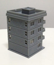 将图片加载到图库查看器,Modern City Building 4-Story Apartment Z Scale 1:220 Outland Models Railway