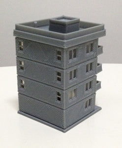 Modern City Building 4-Story Apartment Z Scale 1:220 Outland Models Railway
