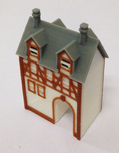 Half Timbered House (with Passage) Z Scale Outland Models Train Railway Layout