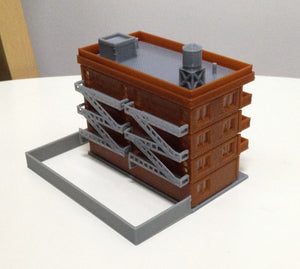 Modern City Building 4-Story Apartment (Large) Z Scale Outland Models Railway