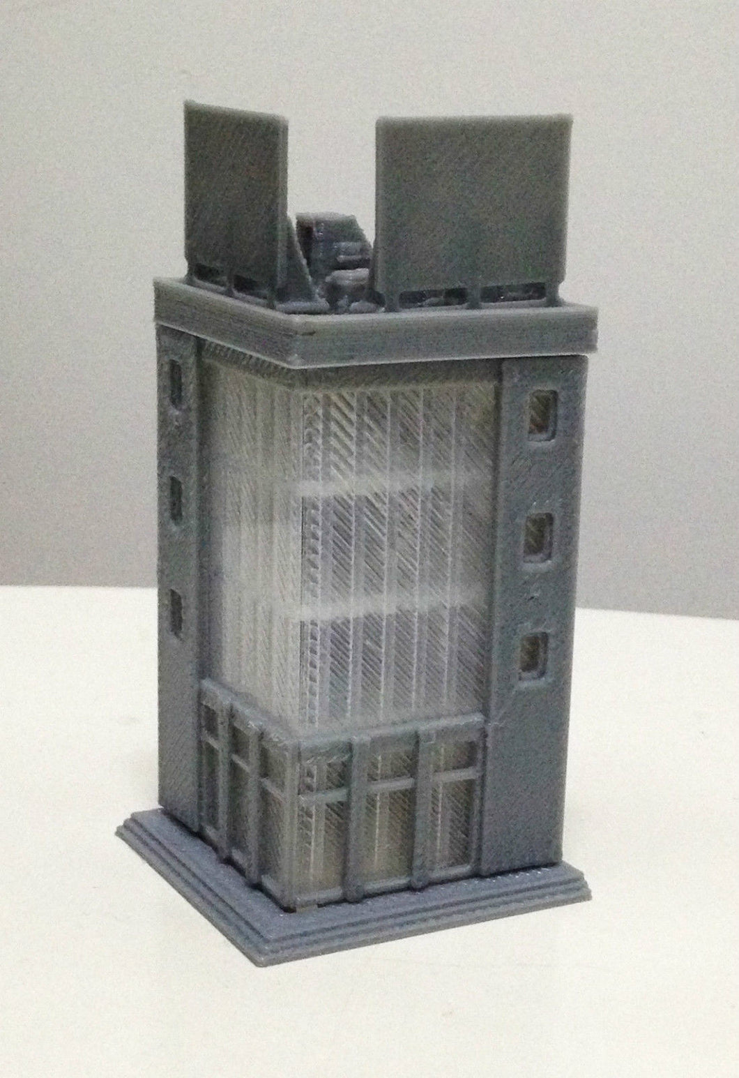 Modern City Building 4 Story Office Z Scale Outland Models Railway Layout