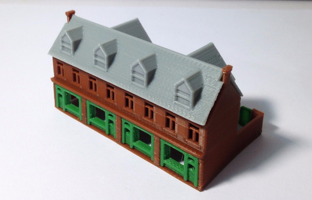 Victorian City Building Shop Row Z Scale Outland Models Train Railway Layout