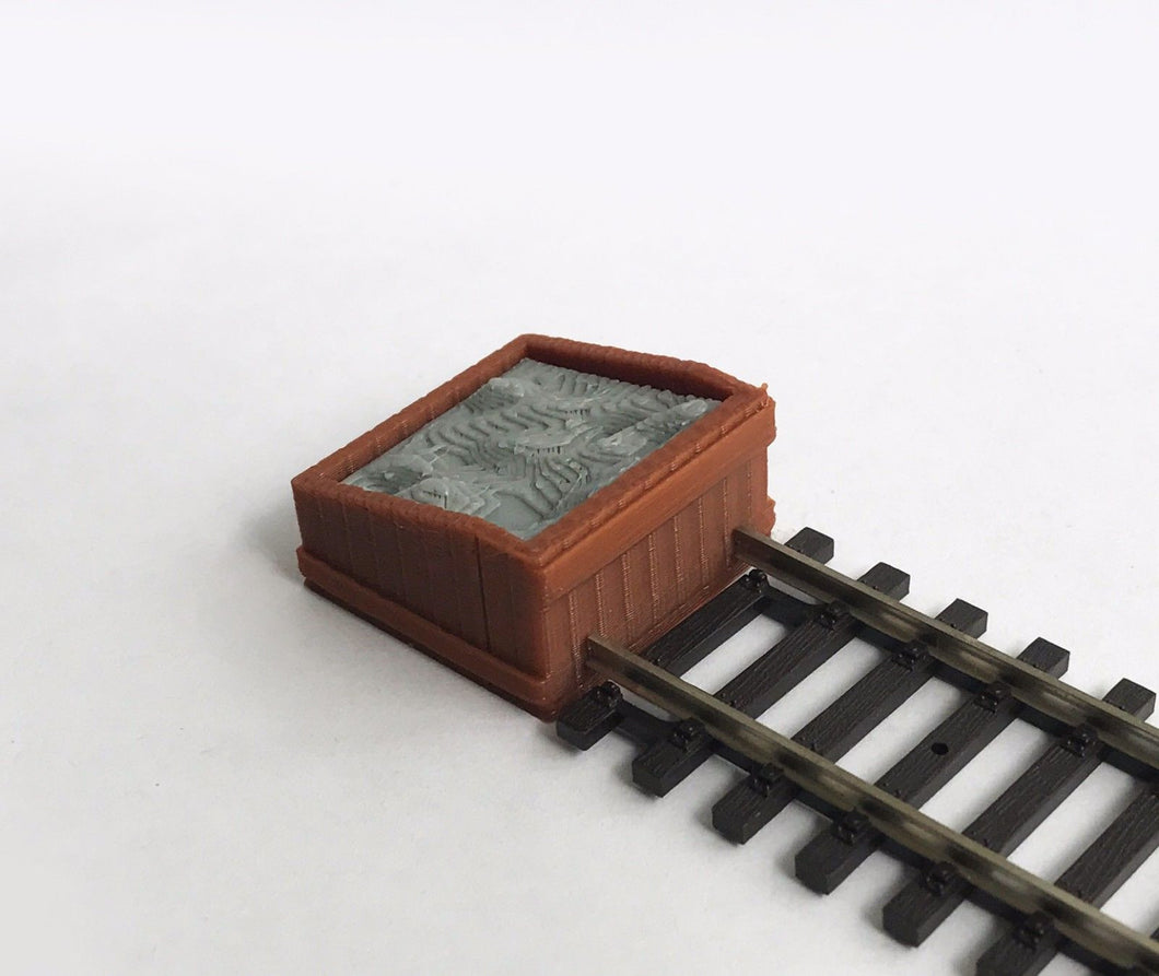Track Buffer / Stop x2 Wood Style HO Scale 1:87 Outland Models Railway Layout