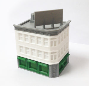 City Classic 3-Story Corner Shop N Scale Outland Models Train Railway Layout