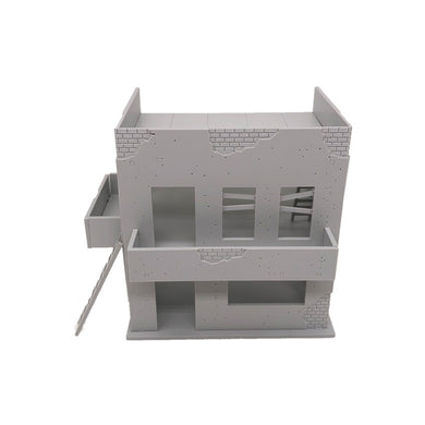 Damaged Ruin House Background Building 1:72