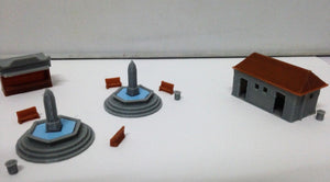 Park & Plaza Accessories Fountain Toilet... N Scale 1:160 Outland Models Railway