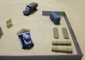 Construction Site Accessories and Vehicles Set Z Scale Outland Models Railway