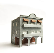 Load image into Gallery viewer, City Classic 3-Story Arcade Building N Scale 1:160 Outland Models Train Layout