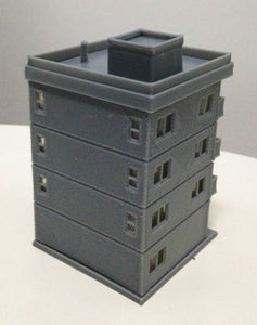 Modern City Building 4 Story Apartment N Scale Outland Models Railway Layout