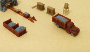 Ore Mining Accessories: Cart Truck Shanty.. Z Scale Outland Models Train Railway