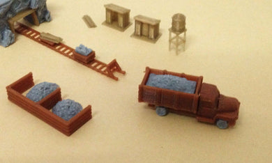Ore Mining Accessories: Cart Truck Shanty.. N Scale Outland Models Train Railway