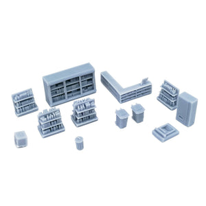 Market/Store Interior Accessories Set 1:220 Z Scale